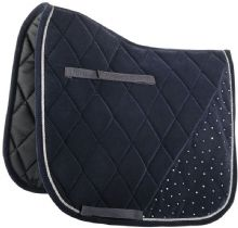 HARRYS HORSE VELVET SADDLE CLOTH - NAVY - RRP £39.99 - SALE